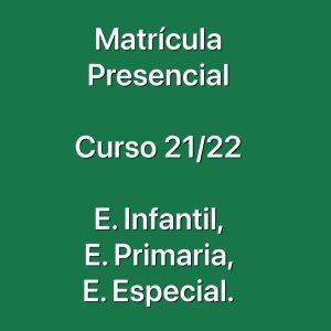 Impresos de  las matrículas  para alumnos de nueva admisión: Curso 21/22.